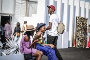 People gathering at Lagos Fashion Week, Nigeria